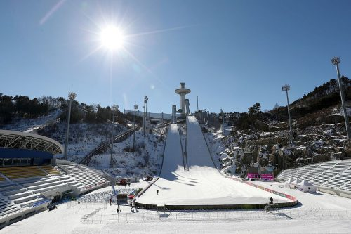 Ski jumping events are held at the Alpensia Ski Jumping Stadium in PyeongChang.