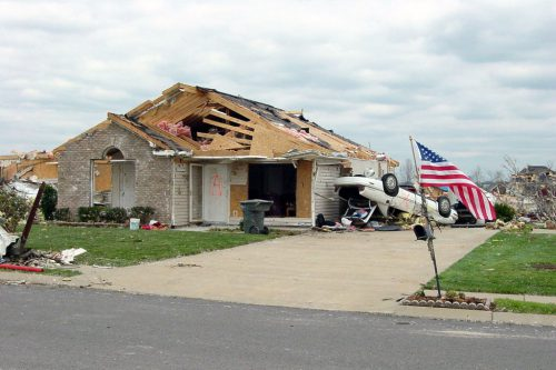 Damage from a tornado that hit Tennessee in 2006.