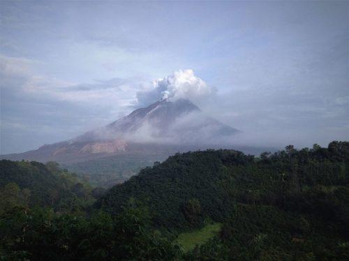Indonesia's Mount Sinabung erupting in 2014.