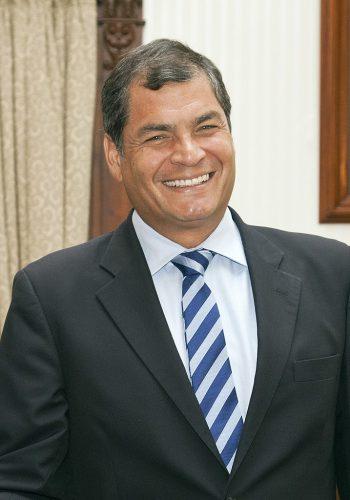 Rafael Correa was president of Ecuador from 2007 to 2017.