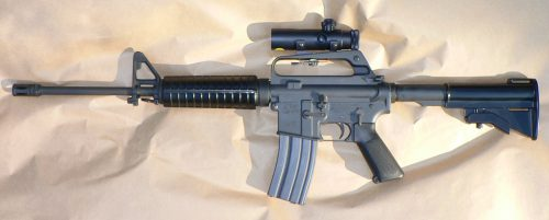 Guns like this AR-15 are against the law in many countries.