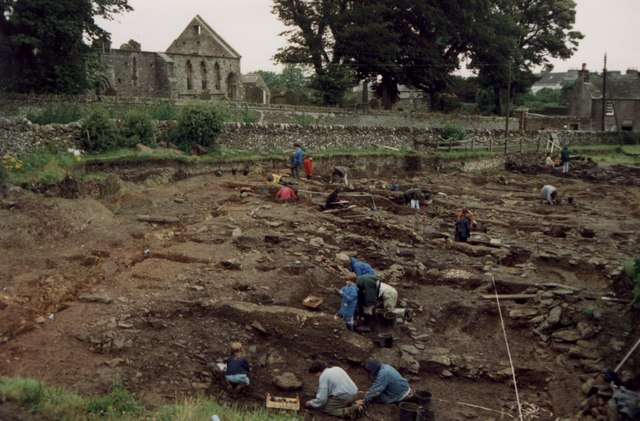 Archeological dig at Whithorn Priory