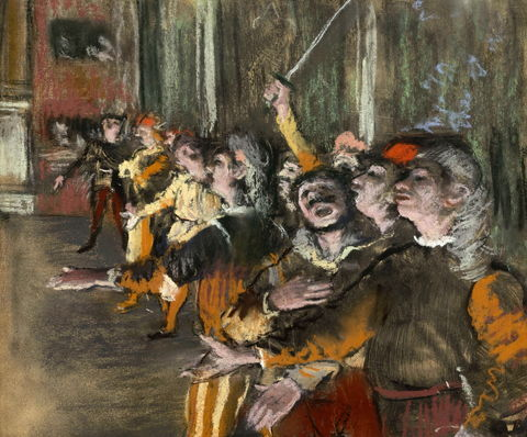 The Choir Singers by Edgar Degas