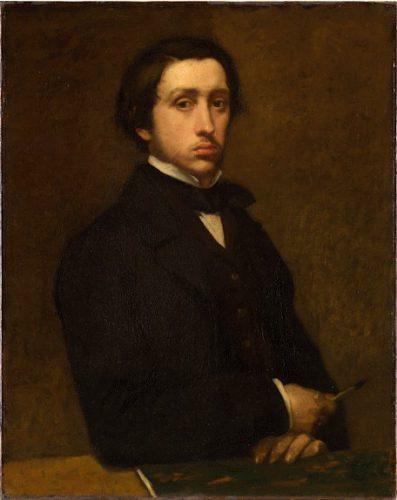 Edgar Degas - a self-portrait.