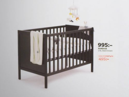 IKEA ad shows special price to pregnant women.