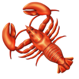 Fixed lobster emoji with ten legs.