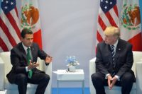 Mexican President Peña Nieto and US President Trump at the G20 summit, July 2017.