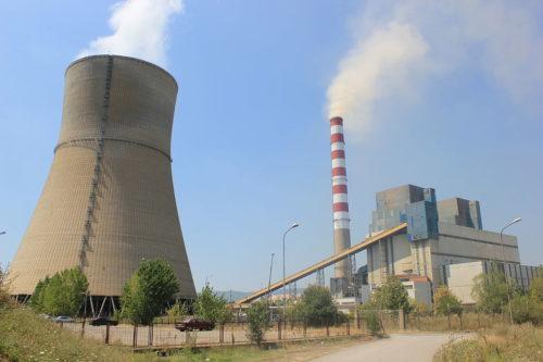 The Obilic Power Plant in Kosovo