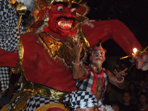 Ogoh Ogoh - an evil monster in the parade before Nyepi