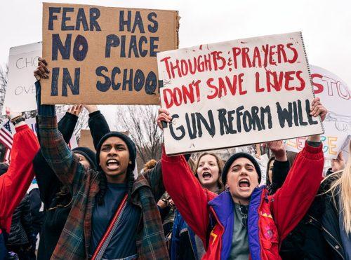 Teen Protest for Gun Safety, Washington DC (February, 2018)