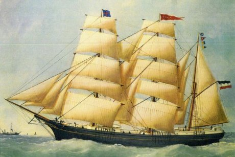 Painting of the ship Paula