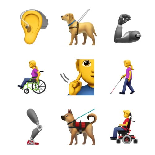 Apple asked for new emojis to represent people with disabilities.