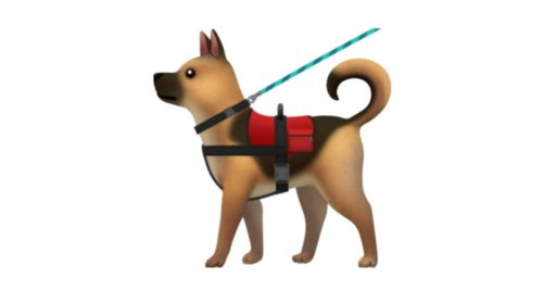 "Apple said the ""service dog"" emoji could represent people with hidden disabilities."