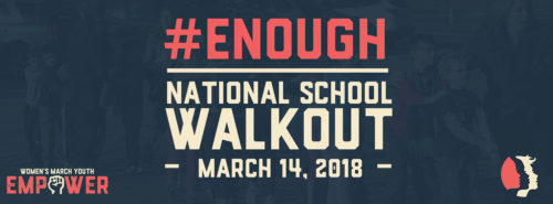 Banner for the Student Walkout