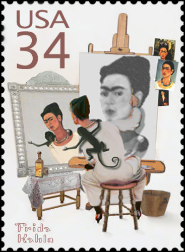 A US Postage Stamp Showing Frida Kahlo