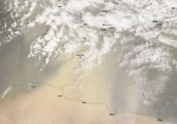 Picture taken from space shows sand from north Africa blowing toward Greece.