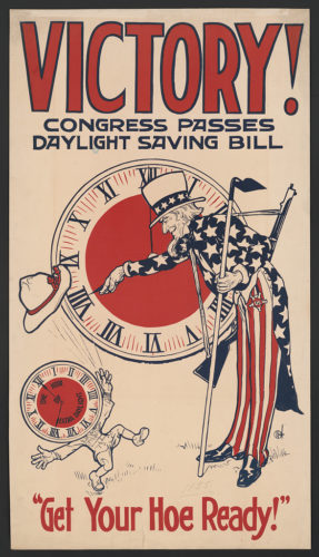 Poster for the first Daylight Savings Time in the US