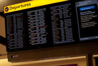 Flights in Europe were delayed up to 3 hours on Tuesday. Some flights were cancelled.