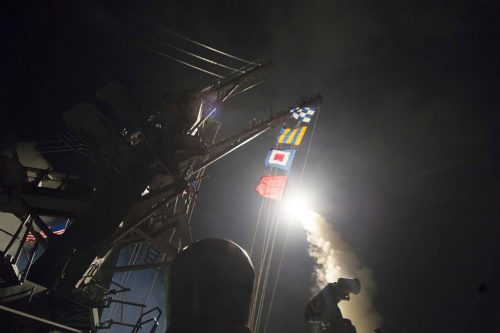 The US shot missiles at a Syrian airport after a chemical attack in 2017.