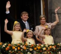 Netherland's King Willem-Alexander, Queen Maxima, and their daughters.