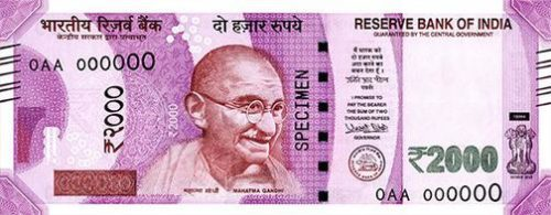 The new Indian 2,000-rupee note has not solved the problem.