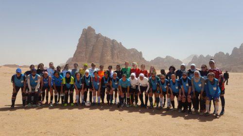 EPF players in the Wadi Rum desert, Jordan.