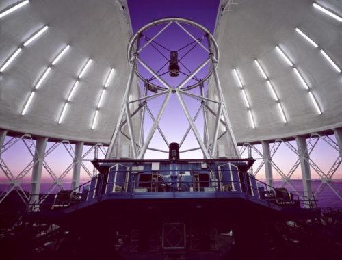 Inside the Gemini North Observatory.