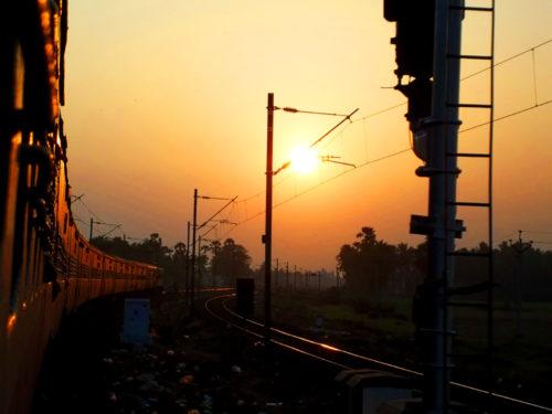 Train in Odisha, India