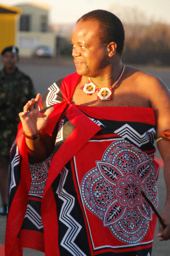 King Mswati III of eSwatini (Swaziland)
