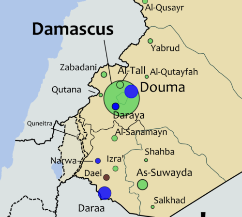 Map showing Douma