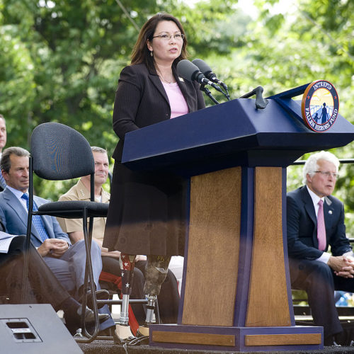 Senator Duckworth lost both legs in Iraq in 2004.