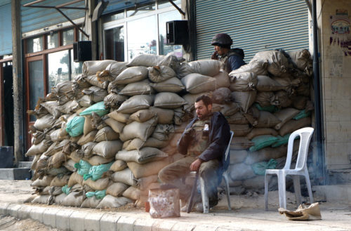 Syria has been fighting against rebels in Douma for a long time. This picture was taken in Douma in 2012.