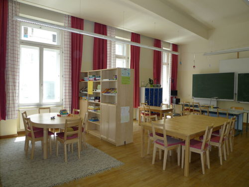 Empty German Classroom