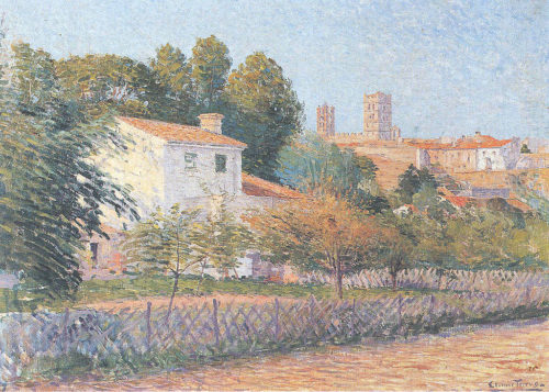 'View of Elne', a painting people think is by Étienne Terrus.
