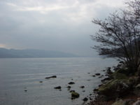 Rocky shoreline of Loch Ness