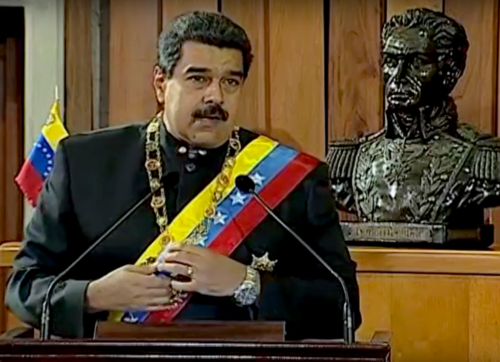 Nicolás Maduro was re-elected president for six more years.
