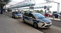 German police car at airport.