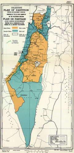 1947 United Nations Plan for splitting up Palestine