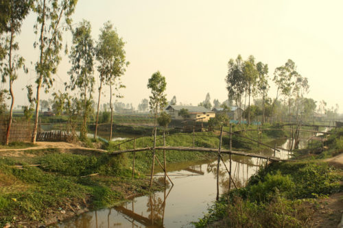 Moirang village, about 10 miles away from Leisang. Moirang already had electricity.