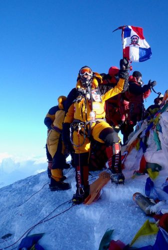 Team at the summit of Mount Everest in 2011