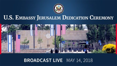 US State Department post about the opening of the Embassy in Jerusalem.