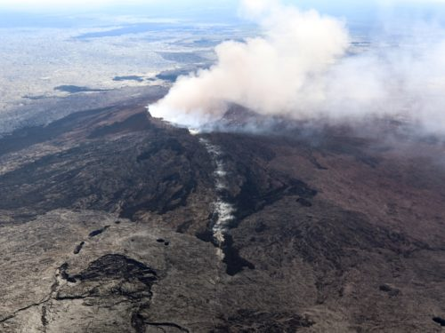 Puu Oo - the main crater of Kilauea.