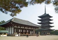 The funerals were held at the Buddhist temple Kofukuji in Japan.