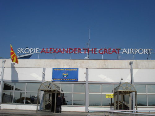 Macedonia has changed its airport's name from Alexander the Great Airport to Skopje International Airport.