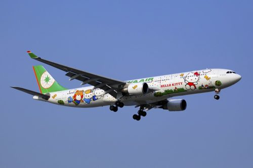 At one point, EVA Air had seven Hello Kitty Jets.
