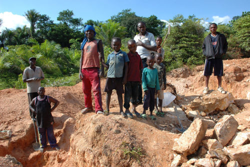 These children work in mining in the Democratic Republic of Congo.