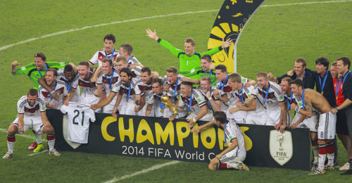 Germany, the winner of the 2014 FIFA World Cup, will play on Sunday.