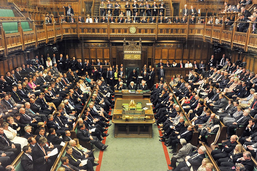 The House of Commons is part of the Parliament in the UK.