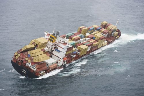 This container ship ran aground in 2011.