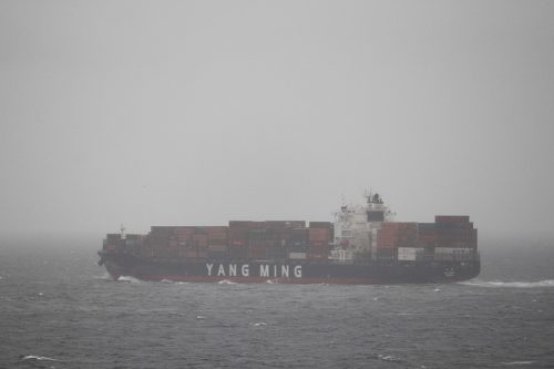 Yang Ming container ship, 2017